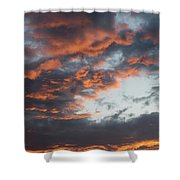 Dramatic Sunset Sky With Orange Cloud Colors Shower Curtain