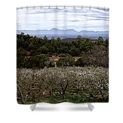 Draney Orchard Pano Shower Curtain