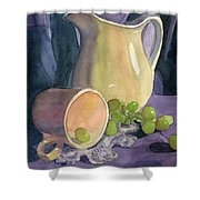 Drapes And Grapes Shower Curtain