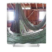 Draping Nets 2 Shower Curtain