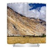 Drass Village Agriculture Kargil Ladakh Jammu And Kashmir India Shower Curtain