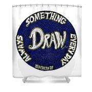 Draw Motivational Mandala Shower Curtain