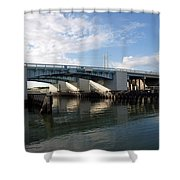 Drawbridge At Port Canaveral In Florida Shower Curtain
