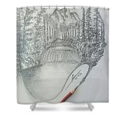 Drawing A Masterpiece  Shower Curtain