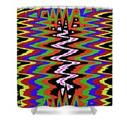 Drawing Abstract # 8455wtr Shower Curtain