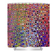 Drawing Color Abstract#5335wctw Shower Curtain