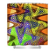 Drawing Color Squares Abstract Shower Curtain