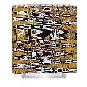 Drawing Composition Abstract Shower Curtain