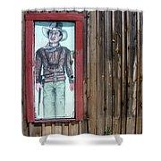 Drawing John Wayne Hondo  Medicine Horse Black Canyon City Arizona 2005 Shower Curtain