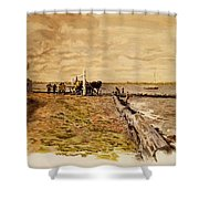 Drawing The Seine 1882 Shower Curtain