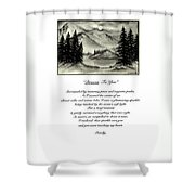 Drawn To You Shower Curtain