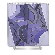 Drawn2abstract229 Shower Curtain
