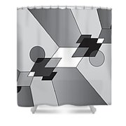 Drawn2shapes12bnw Shower Curtain
