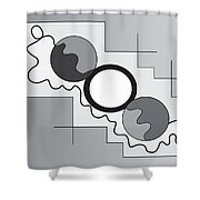 Drawn2shapes3bnw Shower Curtain