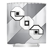 Drawn2shapes4bnw Shower Curtain