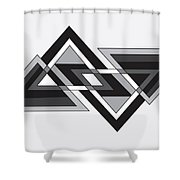 Drawn2shapes6bnw Shower Curtain
