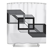 Drawn2shapes8bnw Shower Curtain