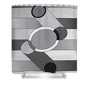 Drawn2shapes9bnw Shower Curtain