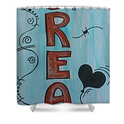 Dream Acrylic Watercolor Shower Curtain