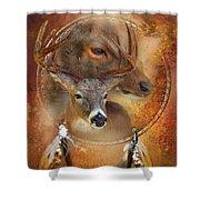 Dream Catcher - Autumn Deer Shower Curtain