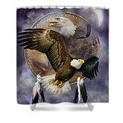 Dream Catcher - Spirit Eagle Shower Curtain
