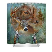 Dream Catcher - Spirit Of The Deer Shower Curtain