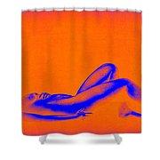 Dream In Orange Shower Curtain