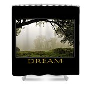Dream  Inspirational Motivational Poster Art Shower Curtain by Christina Rollo