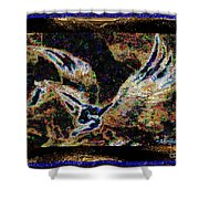 Dream Of The Horse With Painted Wings  Shower Curtain