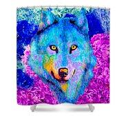 Dream Wolf Shower Curtain