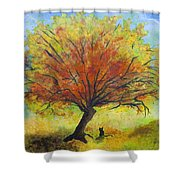 Dreaming Amber Shower Curtain