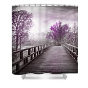 Dreaming At Dawn In Pink Shower Curtain