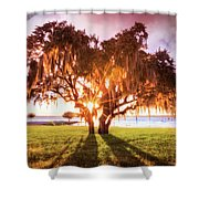 Dreaming At Sunrise Shower Curtain