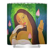 Dreaming Girl  Shower Curtain