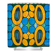 Dreaming In Circles Abstract Hard Candy Art By Omashte Shower Curtain