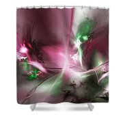 Dreaming In Red And Green Shower Curtain
