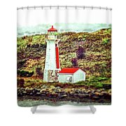 Dreaming Of The Georges Island Light In Halifax Shower Curtain