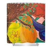 Dreaming Tree Abstract Shower Curtain