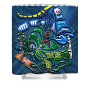 Dreaming With The Fishes Shower Curtain