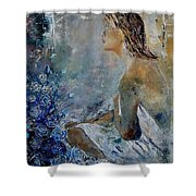 Dreaming Young Girl Shower Curtain