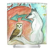 Dreamkeepers Shower Curtain by Brandy Woods