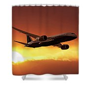 Dreamliner In The Sun Shower Curtain