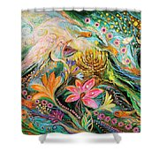 Dreams About Chagall. The Sky Violin Shower Curtain