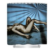 Dreams In Blue Shower Curtain