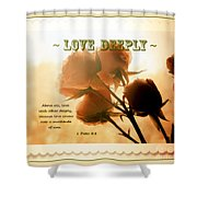 Dreams In Roses - Vintage - Verse Shower Curtain