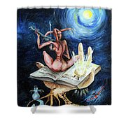 Dreams On A Moonlit Night Shower Curtain
