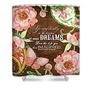Dreams - Thoreau Shower Curtain