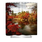 Dreamy Autumn Impressionism Shower Curtain