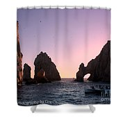 Dreamy Cabo Sunset The Arch Shower Curtain