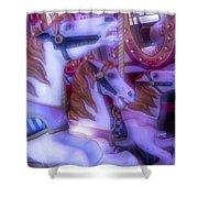 Dreamy Carrousel  Horses Shower Curtain